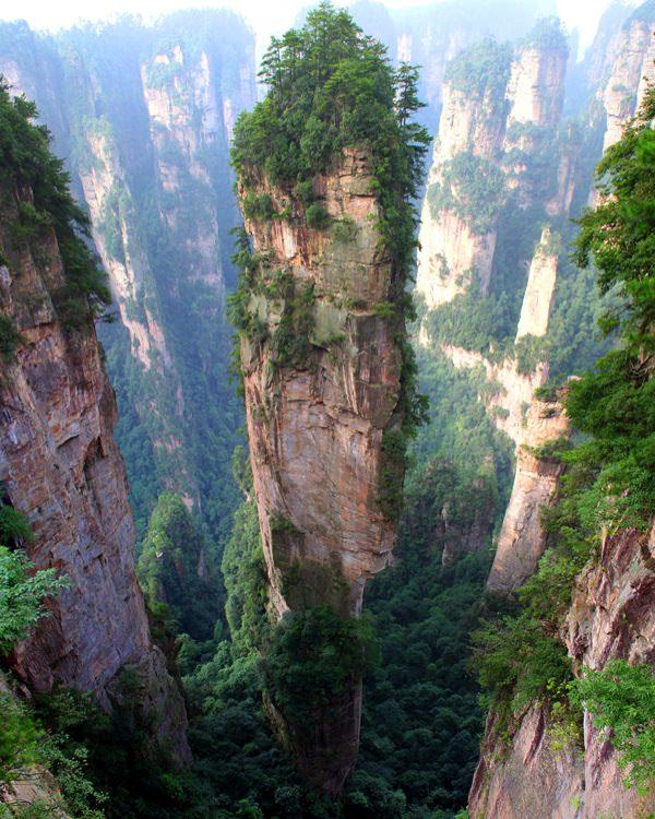 allabout.gr Απίστευτα μέρη Βουνά Tianzi, Κίνα Tianzi Mountains, China