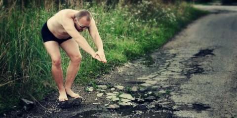 Αστείες φωτογραφίες σε λακκούβες δρόμων