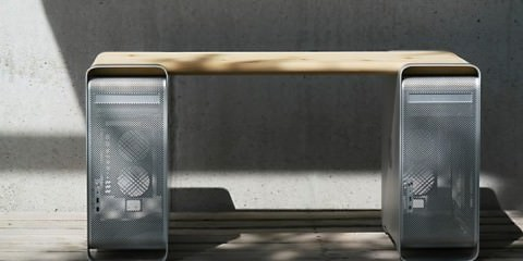 Έπιπλα και γραφεία από παλιά κουτιά υπολογιστών G5 της Apple