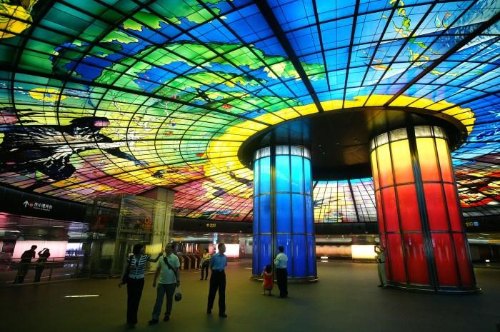 Πιο όμορφοι σταθμοί μετρό στον κόσμο Formosa Boulevard Station