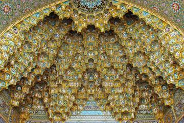 fatima masumeh shrine plafond allabout.gr