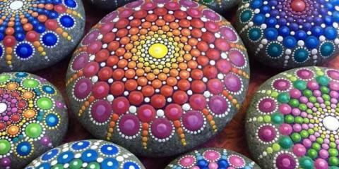 ζωγραφική πάνω σε πέτρες!