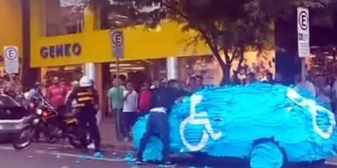 Έτσι τιμωρούνται όσοι σταθμεύουν σε θέση αναπήρων (video)
