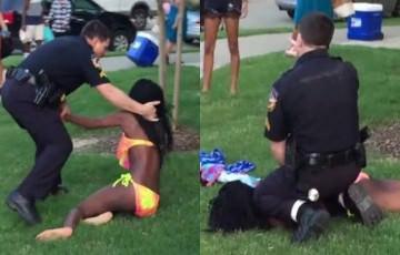 ΗΠΑ: Αστυνομικός βγάζει πιστόλι σε 14χρονα – Θέλω τη μαμά μου φώναζε ένα κορίτσι κλαίγοντας