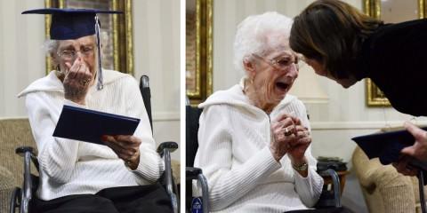 Η γιαγιά που κλαίει από χαρά γιατί πήρε το απολυτήριο Λυκείου στα 97 της χρόνια!
