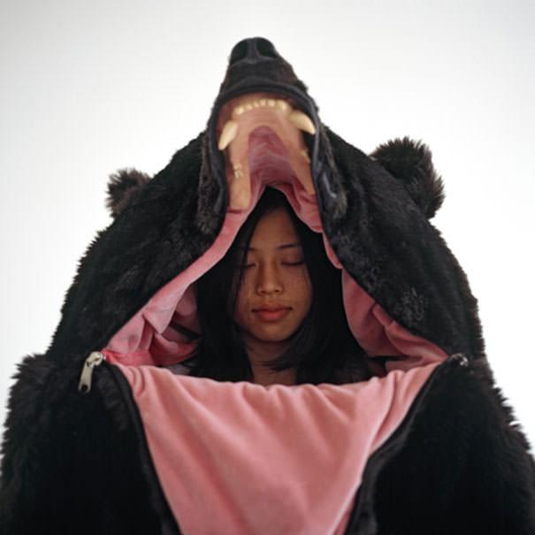 Υπνόσακος σε μορφή αρκούδας