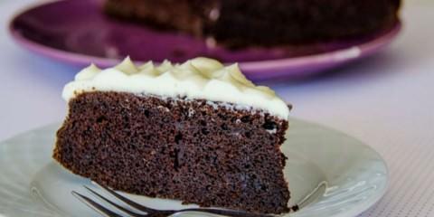 Κέικ σοκολάτας με μαύρη μπύρα