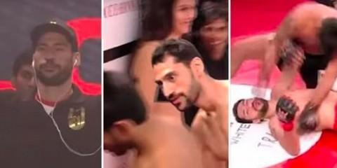 Μαχητής MMA βιώνει ταπεινωτική ήττα αμέσως μετά από την προκλητική του είσοδο.