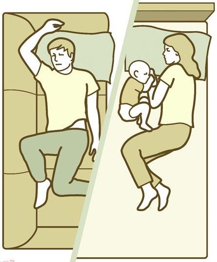 10 φωτογραφίες που αποδεικνύουν ότι ο ύπνος με το μωρό στο ίδιο κρεβάτι δεν είναι εύκολος.