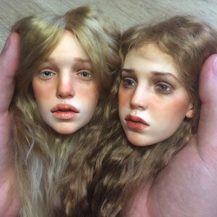 άκρως ρεαλιστικά πρόσωπα για κούκλες
