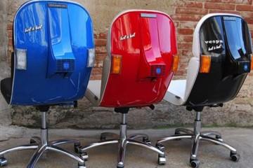 Vespa μετατρέπονται σε υπέροχες καρέκλες