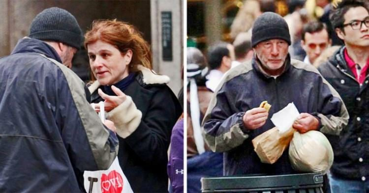 Έδωσε πίτσα σε έναν άστεγο Richard Gere